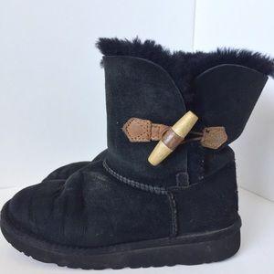 Ugg Black Keely Boots Sz 2Y Kids